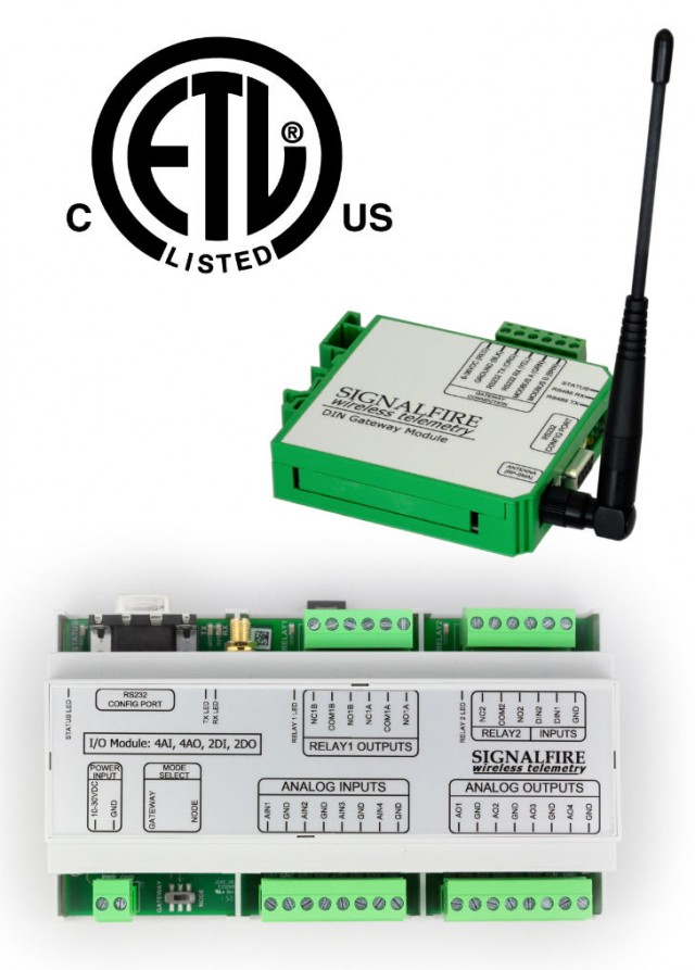 Wireless I/O System and Modbus Din Mount Gateway.