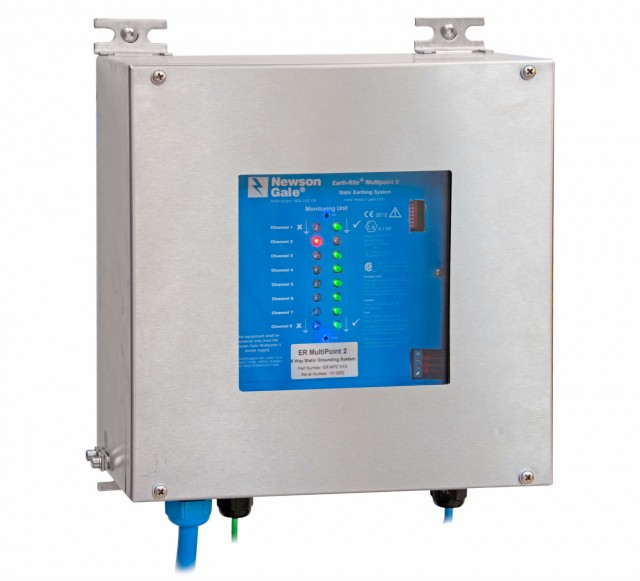 The Earth-Rite MULTIPOINT II is a unique static grounding system that can monitor the simultaneous grounding of up to eight (8) individual pieces of equipment at risk of discharging electrostatic sparks.