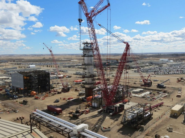 Early phase assembly of 3rd Gen Modular ExecutionSM modules at Shell Quest Carbon Capture and Storage facility at the Scotford Upgrader.
