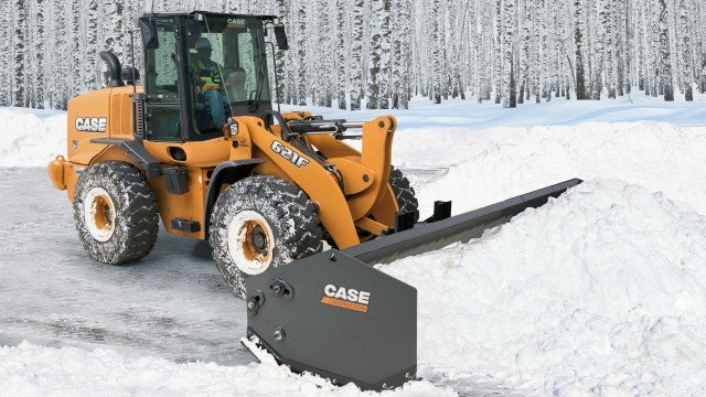 The new CASE pushers are compatible with both current and older model wheel loaders, skid steers, compact track loaders and backhoes also with competitive equipment.