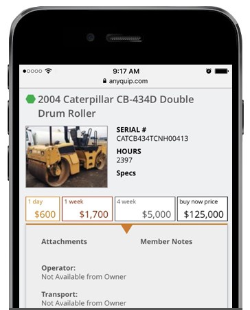 Easily create listings for your idle equipment and start earning revenue
