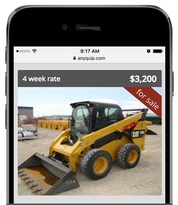 Members can also buy and sell their equipment on AnyQuip