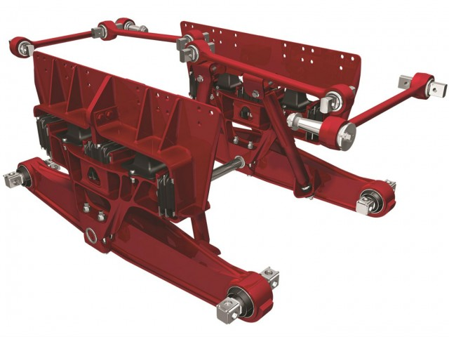 Hendrickson ULTIMAAX advanced severe-duty rubber suspension.