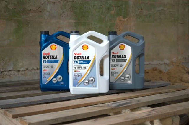 Shell Rotella T4 Triple Protection and Shell Rotella T5 10W-30 Synthetic meet the new API CK-4 service category for diesel engine oil.