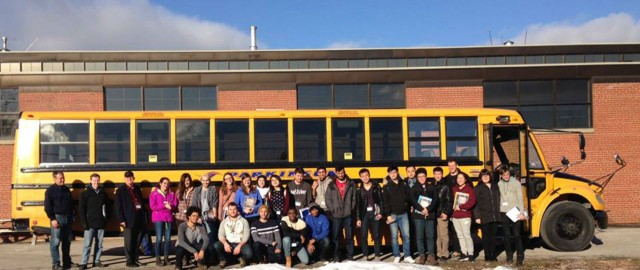 Mining engineering students from the University of Toronto spent a day in January at Haver & Boecker Canada's facility learning firsthand about different aspects of vibrating screens and screening.