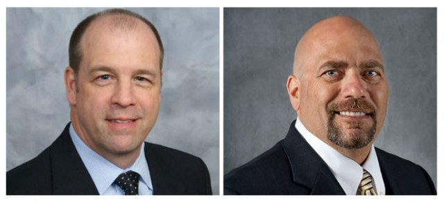 (Left) David Koppenhofer, Executive Director OEM Sales & Support, Cummins Inc., to the AEM Board of Directors, and Scott Harris, Vice President Case Construction North America, CNH Industrial, to the AEM CE Sector Board (right).