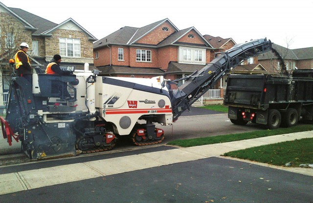 The Wirtgen W 120 Fi mill is a good choice for road work, as well as parking lots.