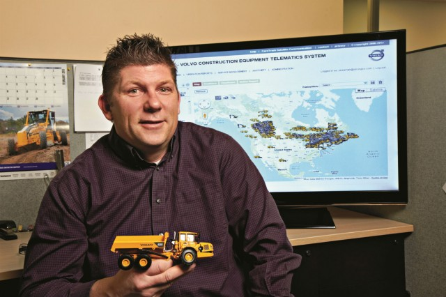 Paul Kearnan has been helping train and educate both Strongco staff and customers on the use of telematics since 2011.