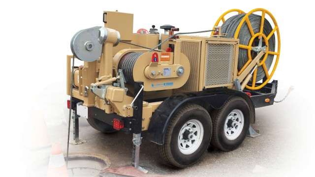 Horizontal Hydraulic Puller : Condux tesmec ars hydraulic puller for underground
