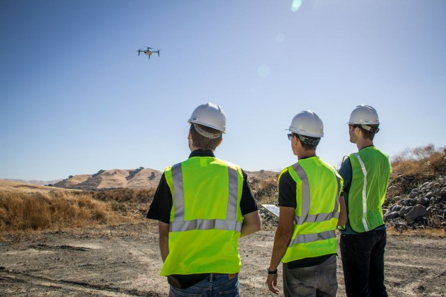 The new Kespry Drone 2.0 now flies over 30 minutes per flight, covering up to 150 acres at a 400 foot altitude, and can operate effectively in up to 25 mph sustained winds and 35 mph wind gusts.