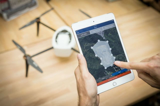 The new Kespry Drone 2.0 is the first automated drone system that includes an on-board LiDAR sensor that automatically detects and avoids obstacles like trees, cranes, and buildings.