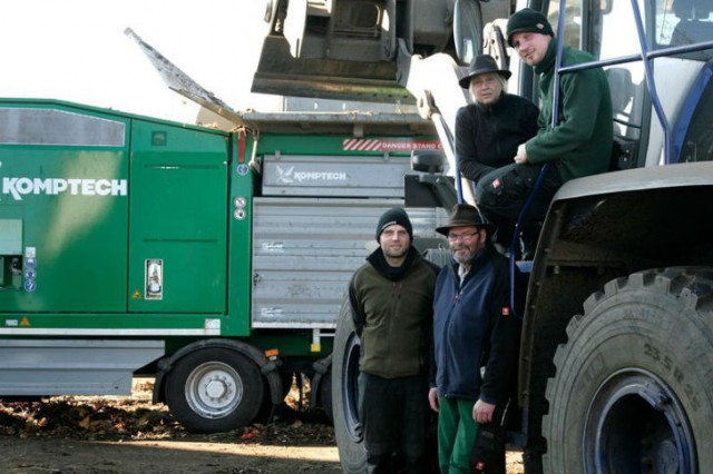 Peter Meier, runs a small but sophisticated greenwaste composting operation with his wife Heidi Meier, sons Florian Meier and  Rudi Meier.