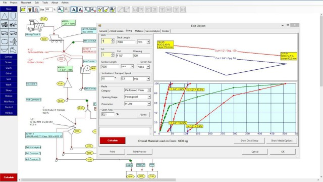 Developed by Haver & Boecker engineers, NIAflow simulation software helps producers optimize quarry and mine operations by diagramming plant flow, machine placement, input, output and more.