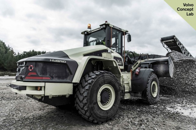 The LX1 hybrid wheel loader offers a significant reduction in emissions and noise pollution.