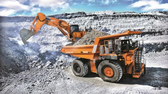 EH4000AC-3 haul truck & EX5600-6 backhoe excavator.