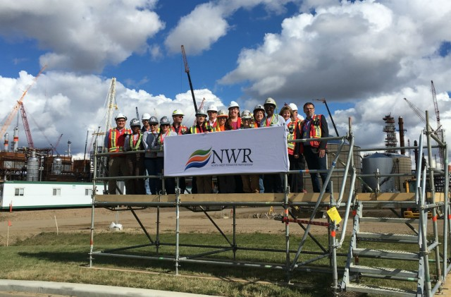 Tuition for the training program was provided by NWR, and work experience and employment at NWR's Sturgeon Refinery is provided to the women by NWR's contractors: Fluor Canada, PCL Industrial Constructors Inc. and Taurus Projects Group Inc. The Alberta Carpenter Training Centre also provided the hands on skill building throughout the training program.