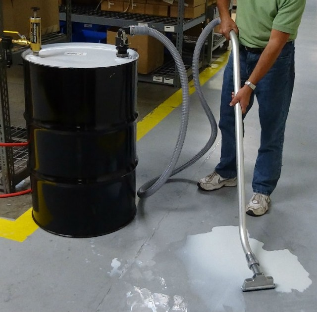 the dual force vac drum pump operates in two modes fill mode and discharge mode
