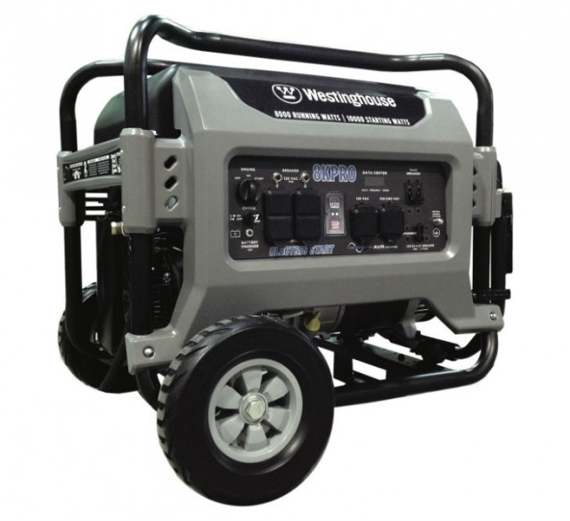 The 8KPRO portable generator comes with the Pro Series 420cc Westinghouse Super Duty Single Engine.