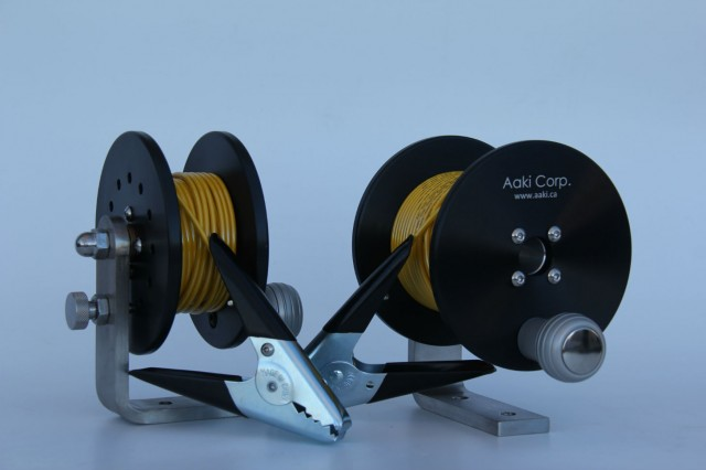 """Black 6"""" Anti-Static Bonding Spools with 4"""" and 2"""" Cores"""