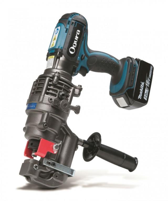 Hougen-Ogura Punch-Pro Electro-hydraulic portable hole puncher, 76000PR model.