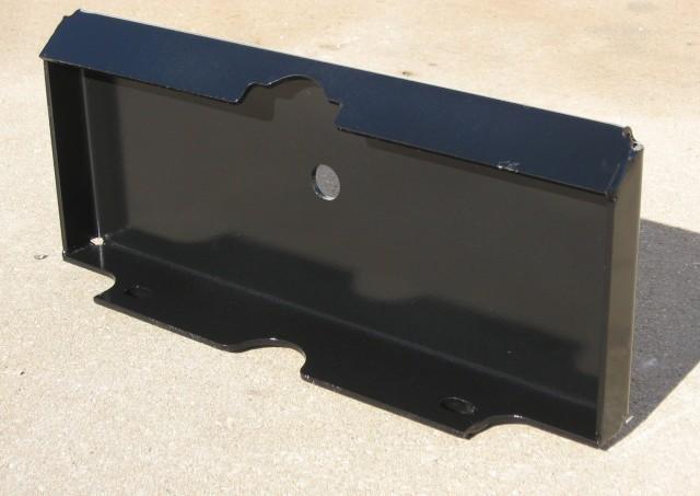 "Weld-on plate converts buckets & attachments to ""universal"" mini skid standard."