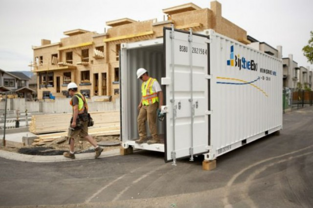 BigSteelBox being used on a residential construction site. – BigSteelBox