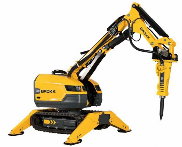 The new Brokk 280 demolition machine features as much as 25 percent more demolition power than its predecessor, the Brokk 260. It's also equipped with as well as the all new Brokk SmartPower electrical system and sports a new rugged design made to withstand the toughest environments. All improvements come without sacrificing any of the machine's compactness and flexibility.