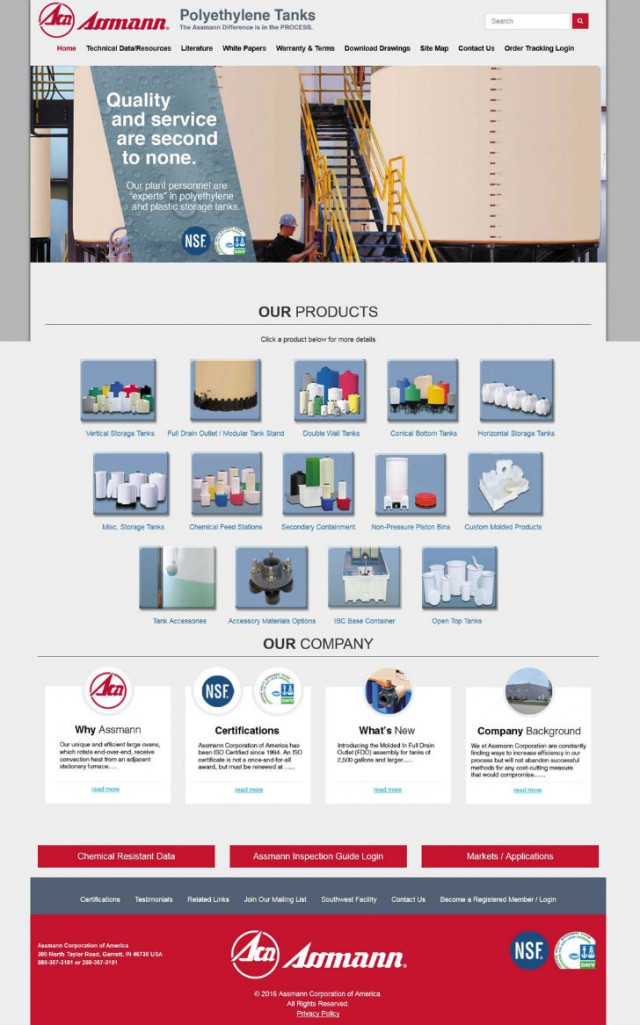 Tank and container manufacturer launches new website