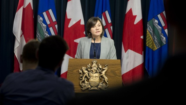 Minister Phillips announces the Oil Sands Emissions Limit Act as the next step in the Climate Leadership Plan.