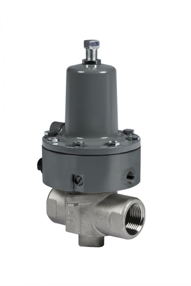 Fisher 119EZS main burner valve for burner systems used in oil and gas production.