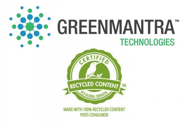 GreenMantra Technologies receives recycled content certification from SCS Global Services