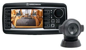 """he camera is compatible with Hirschmann's 4.3"""" and 7"""" color graphic vSCALE consoles and offers the option of horizontal or vertical camera orientation."""