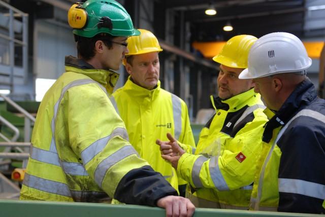 Gaylord Renard, Sven Aschoff, Karl Hoffmann and Sebastien Moras at GDE Recyclage.