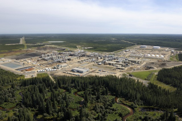 Located about 120 kilometres south of Fort McMurray, our Christina Lake project uses steam-assisted gravity drainage (SAGD) to drill wells, inject steam at a low-pressure and pump oil to the surface.  – Cenovus Energy Inc.