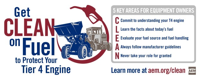 CLEAN is the key to Tier 4 engine fuel quality