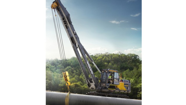 Rotating pipelayer from Volvo delivers performance and lifting capacity