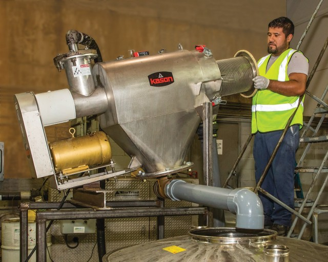 CENTRIFUGAL SCREENER HELPS CONVERT COOKING WASTE INTO BIOFUEL