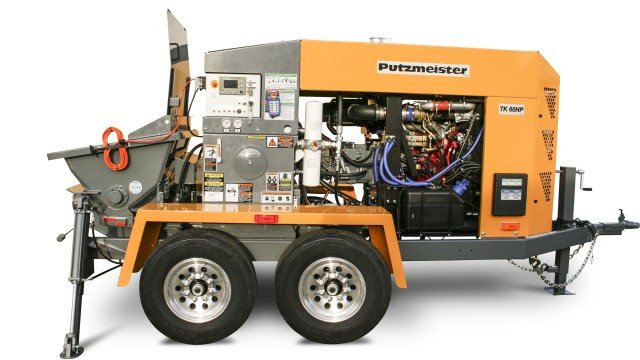 Trailer pump line introduced at World of Concrete