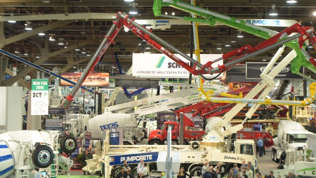 A scene from World of Concrete 2016. The 2017 event wrapped up January 20 and drew more than 50,000 people.