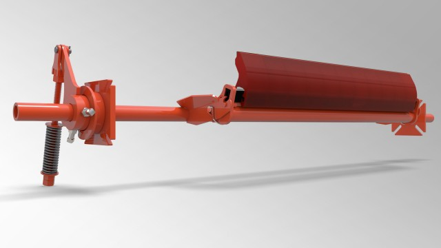 Secondary belt cleaner designed for quick installations