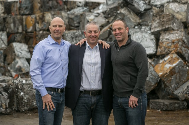 From left to right: Combined Metal Industries' Darryl Shull, Gary Kaplan and David Kaplan.