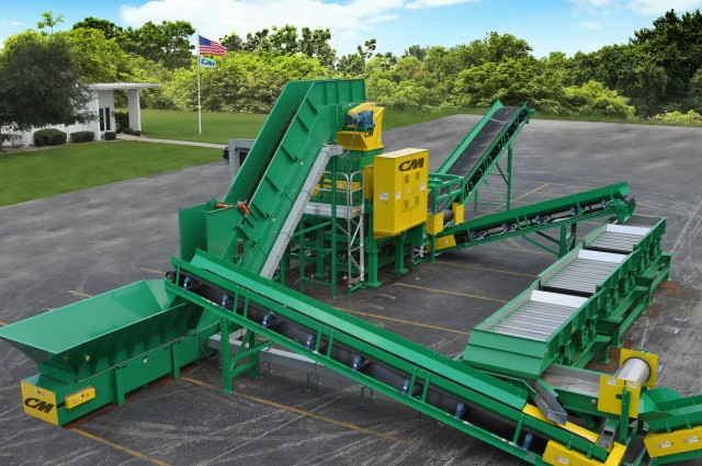 Tire recycling system provided for state of the art for Tractor tire recycling