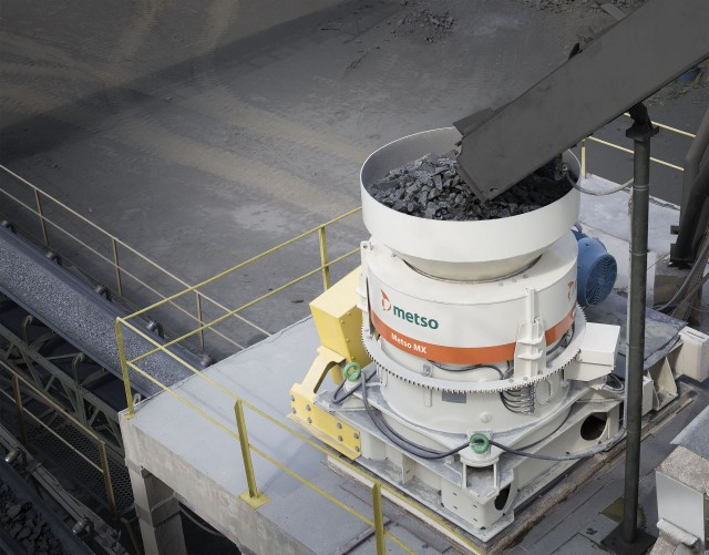 New Metso MX crusher combines piston and rotating bowl into single crusher