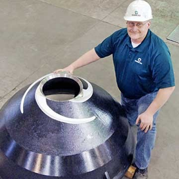 Columbia Steel introduces high output cone mantle