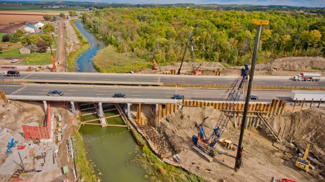 Much of Anchor Shoring's pile driving work is done on large infrastructure projects like bridges and municipal structures.