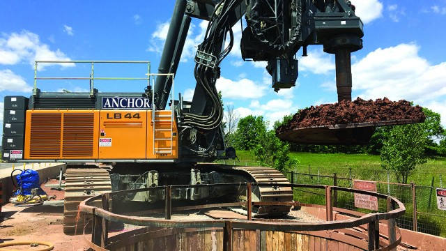 One of the largest drilling projects done by Anchor was this caisson on a water main project in Oakville.