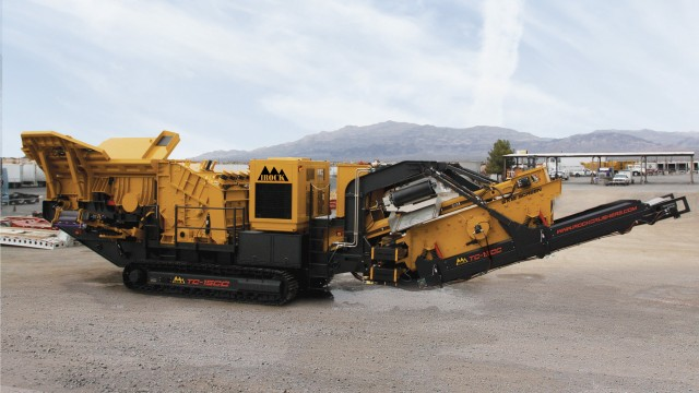 Small footprint makes crushing plant ideal for small to medium contractors