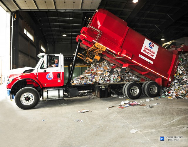 Loraas Disposal, which serves the company's landfill as well as the MRF, is comprised of over 60 trucks, including side-load, front-load and roll-off trucks.