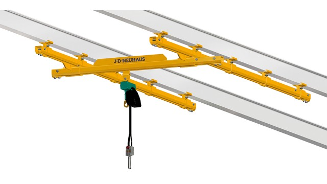 C rail and light crane systems designed for explosion and hazardous areas