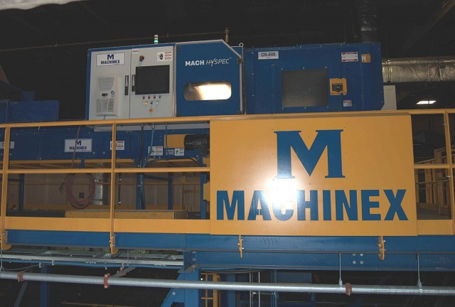 Machinex installed a MACH Hyspec optical sorter for PET in April 2015 at the Northumberland County single-stream facility in Grafton, Ontario, which has exceeded targets by reaching an average rate of 97% efficiency.